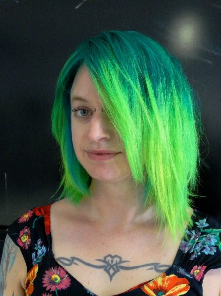 Fluo-haircolor ombre HairDistrict Schiedam