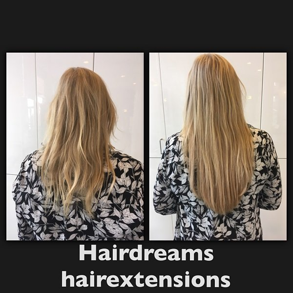 hairextensions lang blond
