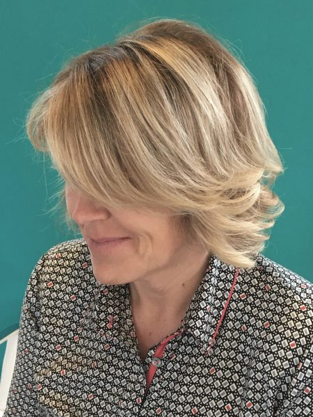 Balayaged bob blond @ HairDistrict